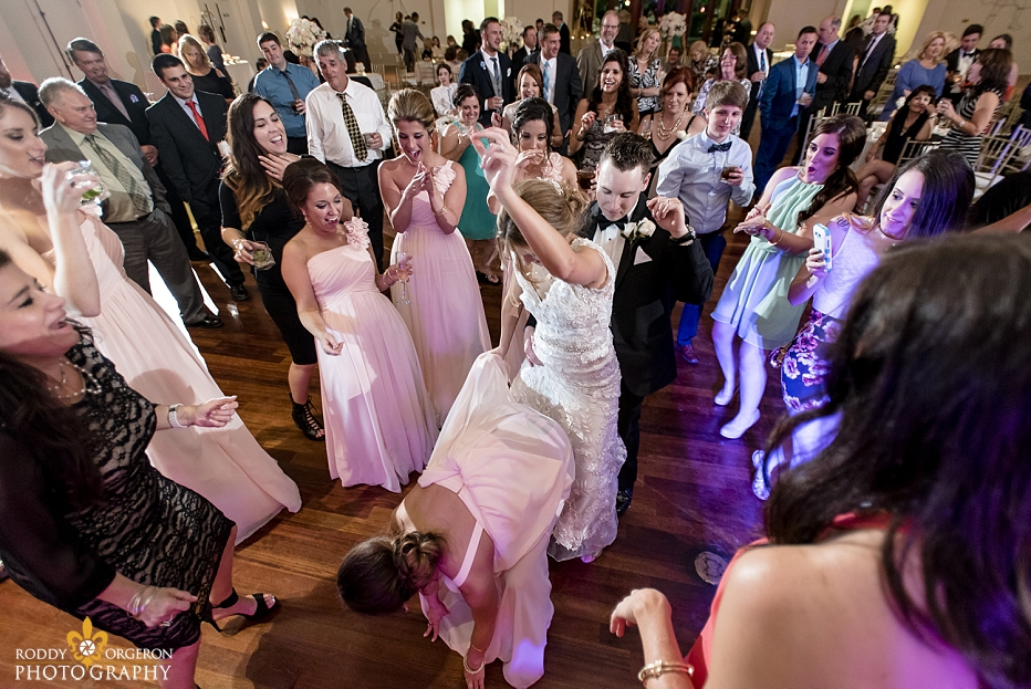 crazy dance skills on the dance floor at The Audubon Tea Room in New Orleans