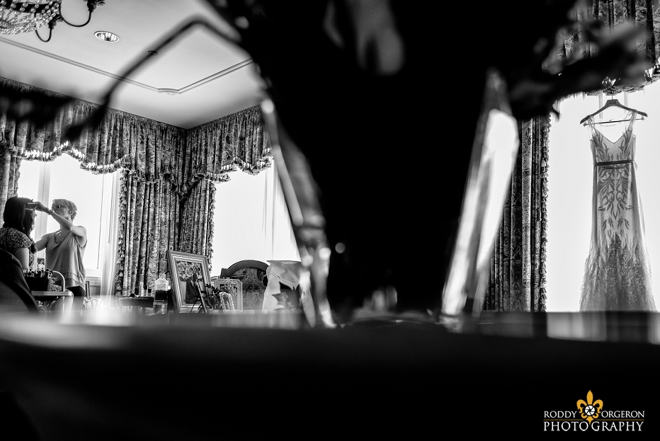 Hotel Monteleone French Quarter wedding prep with bride