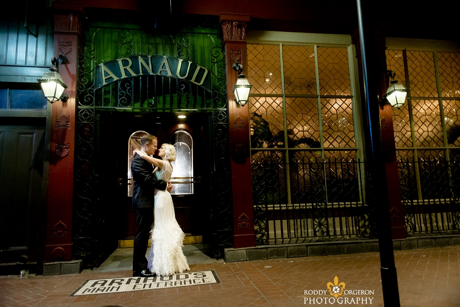 Arnaud's restaurant wedding in New Orleans