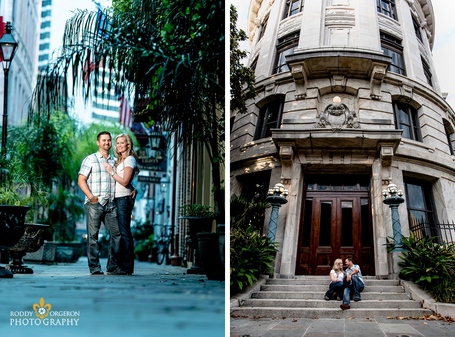 Engagement Session by court house in New Orleans