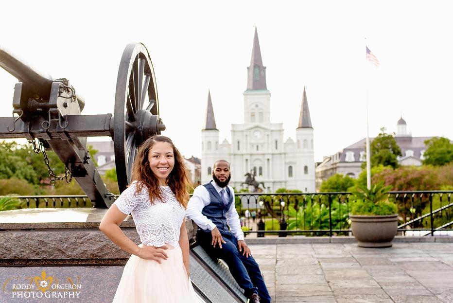 New Orleans Engagement Jackson Square