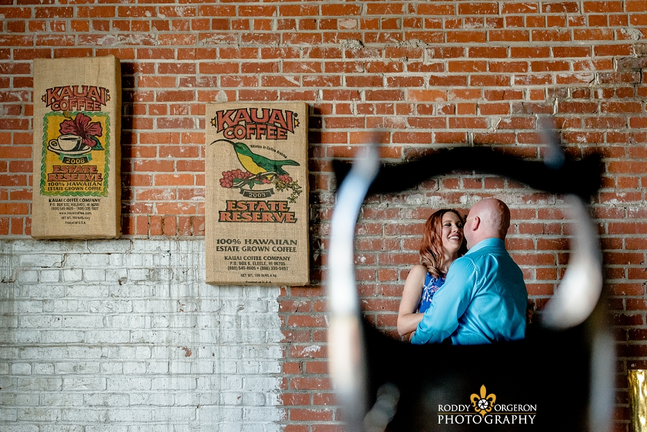 lafayette engagement session at the Lofts