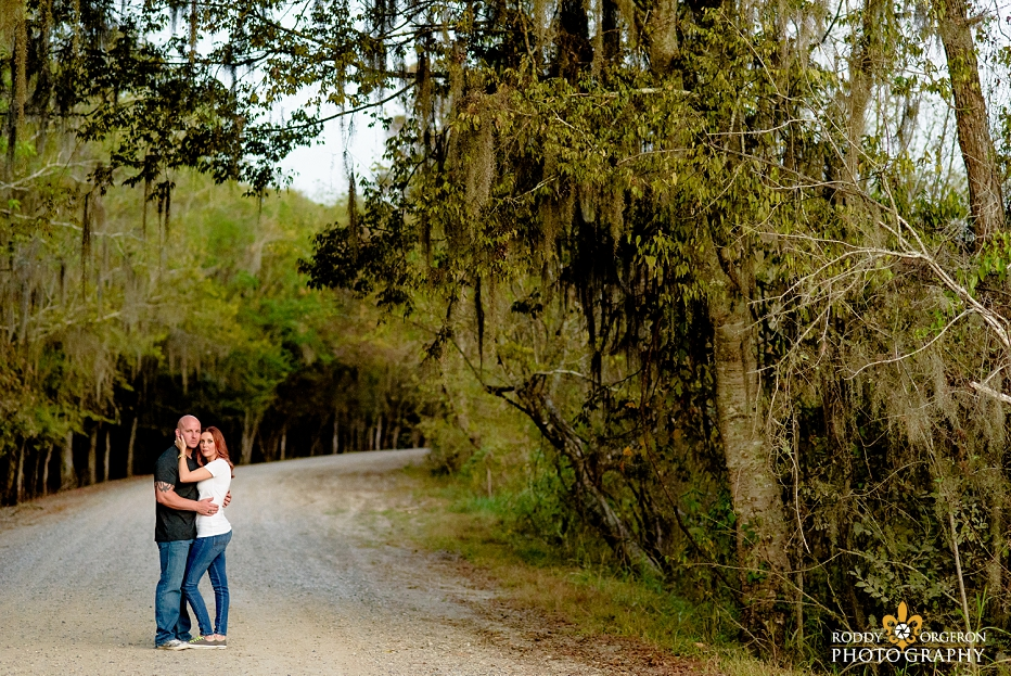 lafayette engagement session by the swamp land