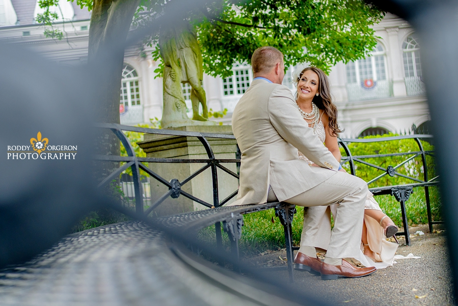 New Orleans Engagement session in Jackson Square