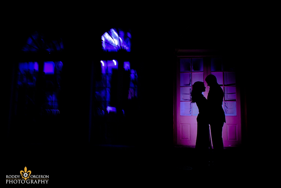 New Orleans Engagement session silhouette