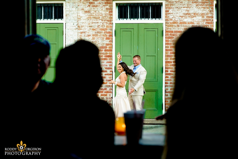 New Orleans Engagement session bride and groom dancing