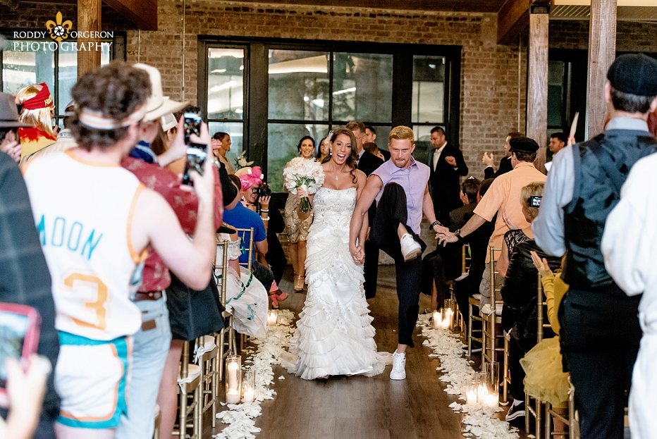 bride and groom married at The Chicory in New Orleans