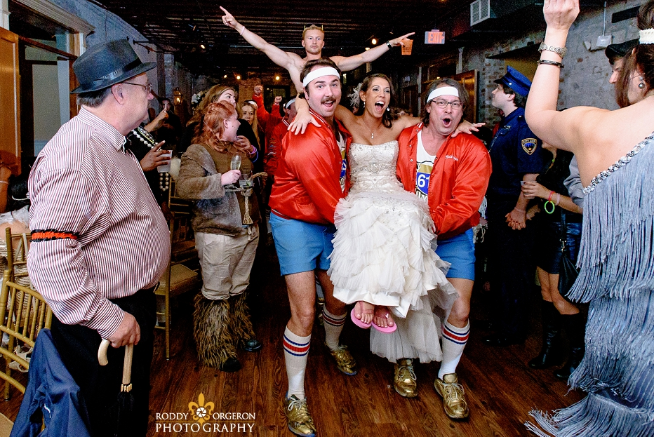 610 Stompers with bride at groom at wedding