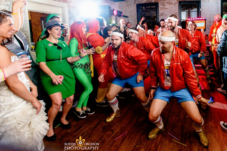610 Stompers at The Chicory wedding dancing