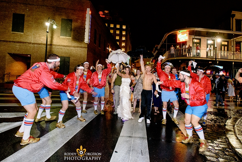 610 Stompers with Bride and Groom second line