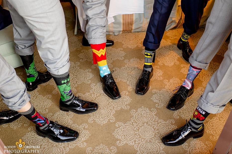 Groomsmen super hero socks
