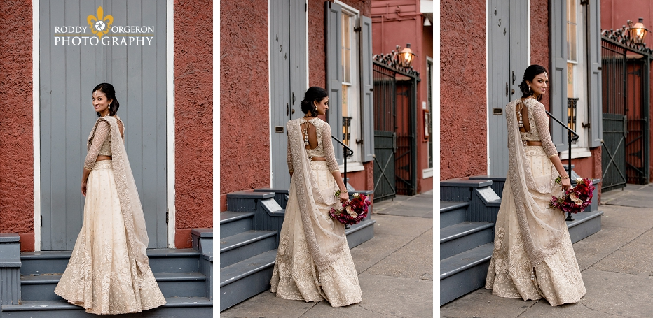 Bride in the French Quarter for her bridal session
