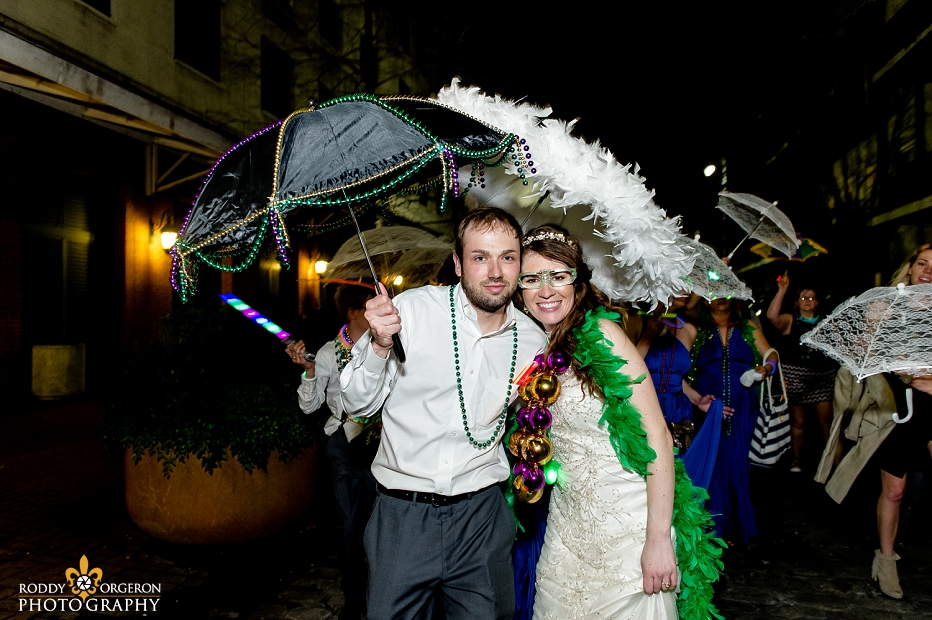 Second line at The Chicory wedding venue in New Orleans
