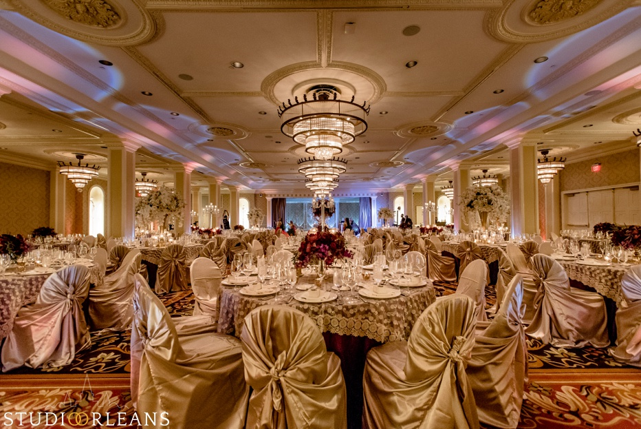 New Orleans Indian wedding reception at the Roosevelt hotel