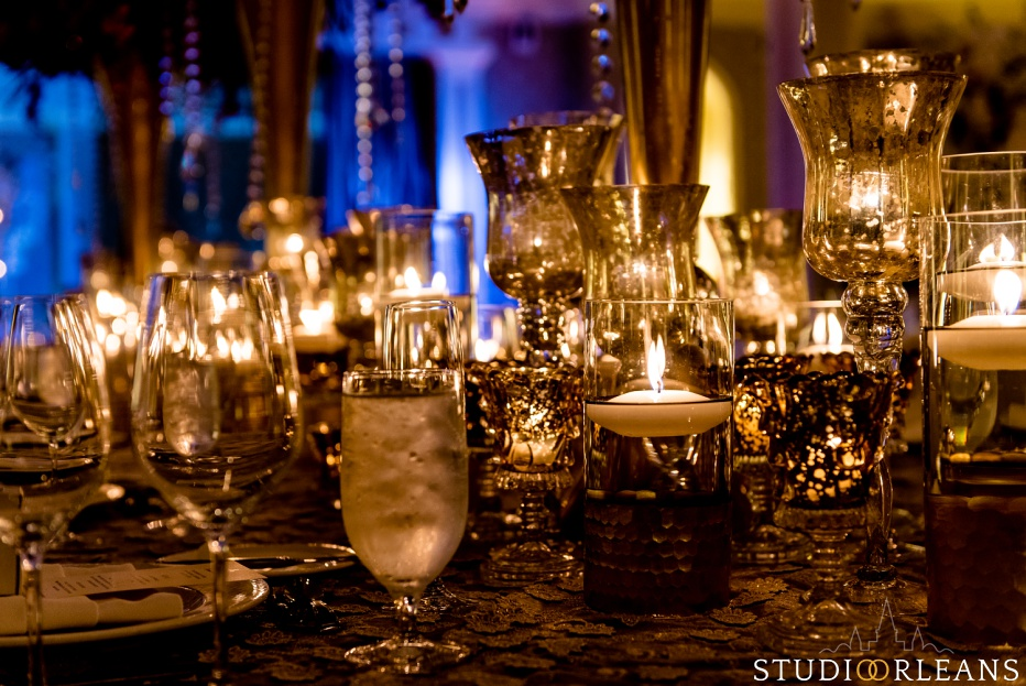 New Orleans Indian wedding details at the reception at the Roosevelt hotel