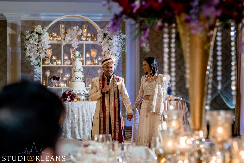 Indian wedding at the Roosevelt hotel - bride and groom speech