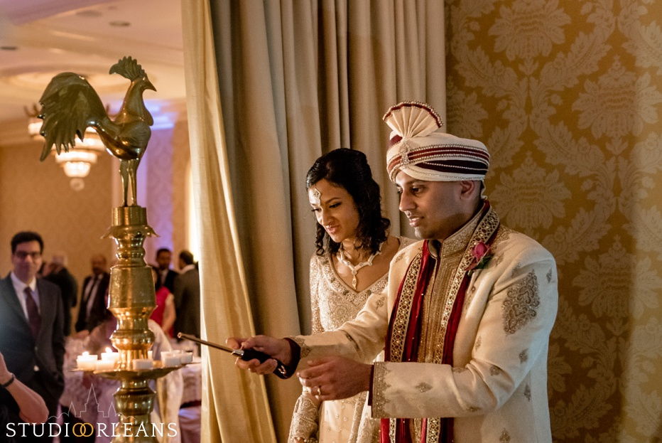 The Roosevelt hotel Indian wedding reception