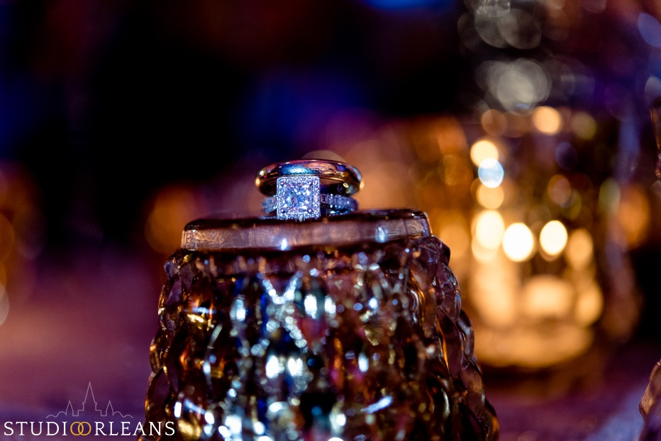 The Roosevelt hotel Indian wedding reception beautiful wedding rings