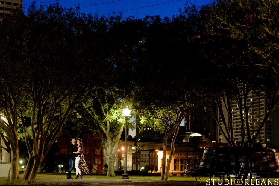 Engagement Session in the French Quarter of New Orleans by the Mississippi River