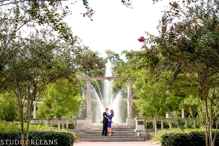 Engagement Session in City Park by Pops fountain