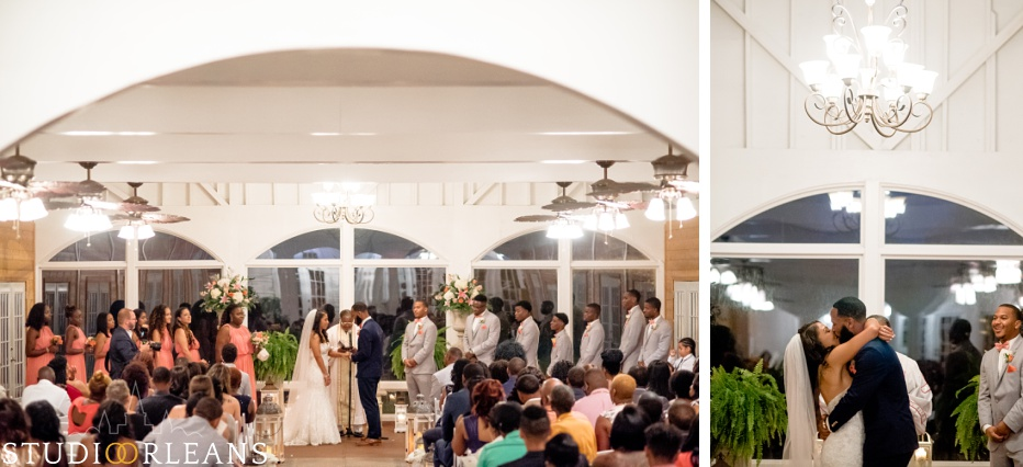 Wedding ceremony at Cedar Grove Plantation. Photo by Studio Orleans New Orleans Photographers
