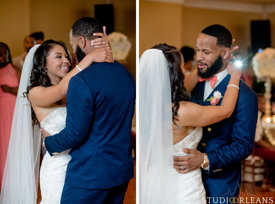 First dance with the bride and groom at Cedar Grove Plantation. Photo by Studio Orleans New Orleans Photographers