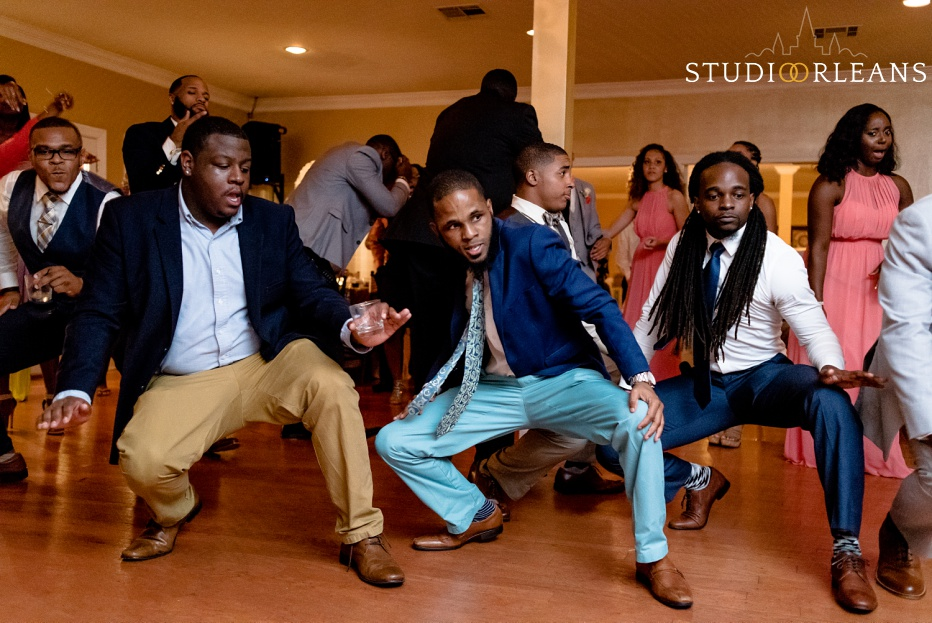 The guys dance with friends at Cedar Grove Plantation. Photo by Studio Orleans New Orleans Photographers