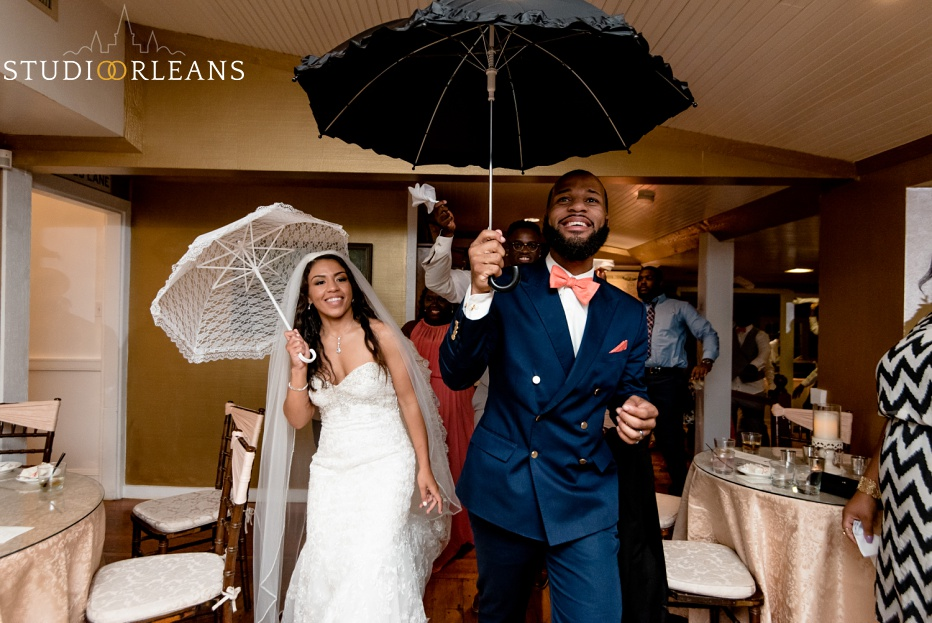 The bride & groom Second Line at Cedar Grove Plantation. Photo by Studio Orleans New Orleans Photographers