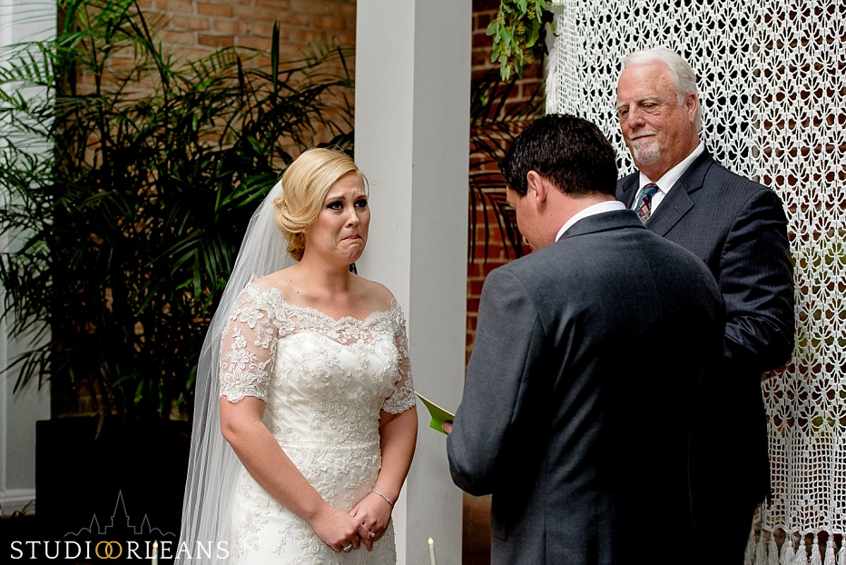 A wedding ceremony at the Chateau Lemoyne hotel in New Orleans