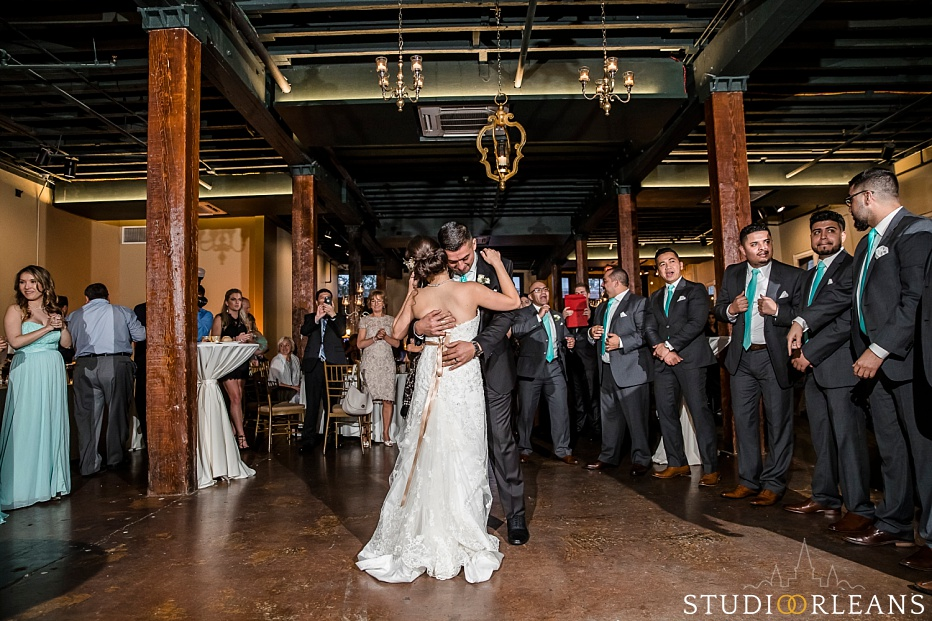 First dance at the Chicory wedding venue in New Orleans