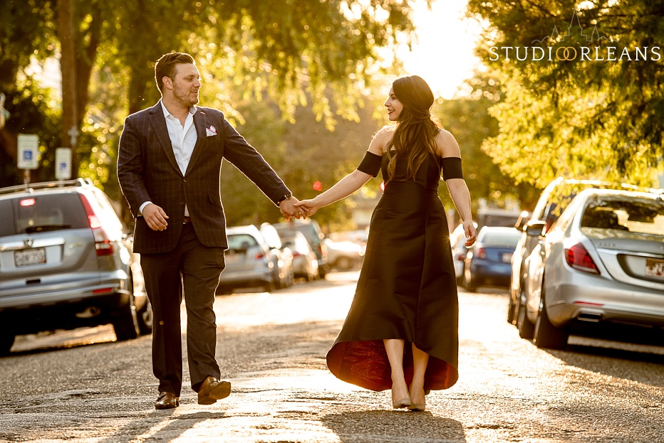 Checkout this beautiful couple as they walk down the streets of New Orleans for there engagement session