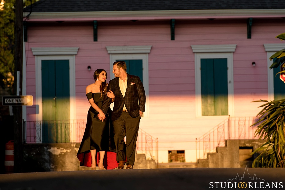 This is Sarah and Josh in the Marigny for there Engagement session