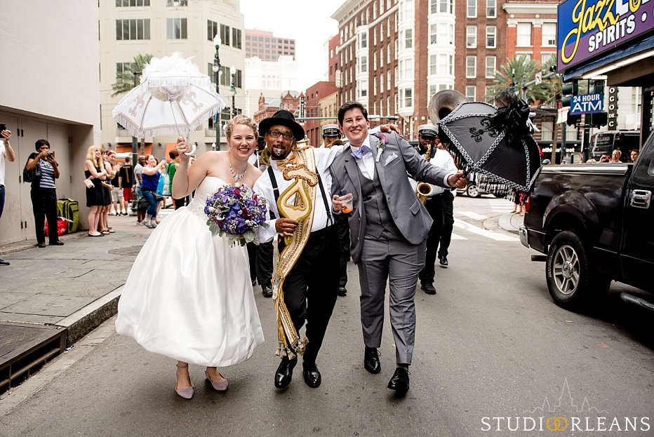 House of Blues wedding - second line in New Orleans - Same sex wedding in New Orleans